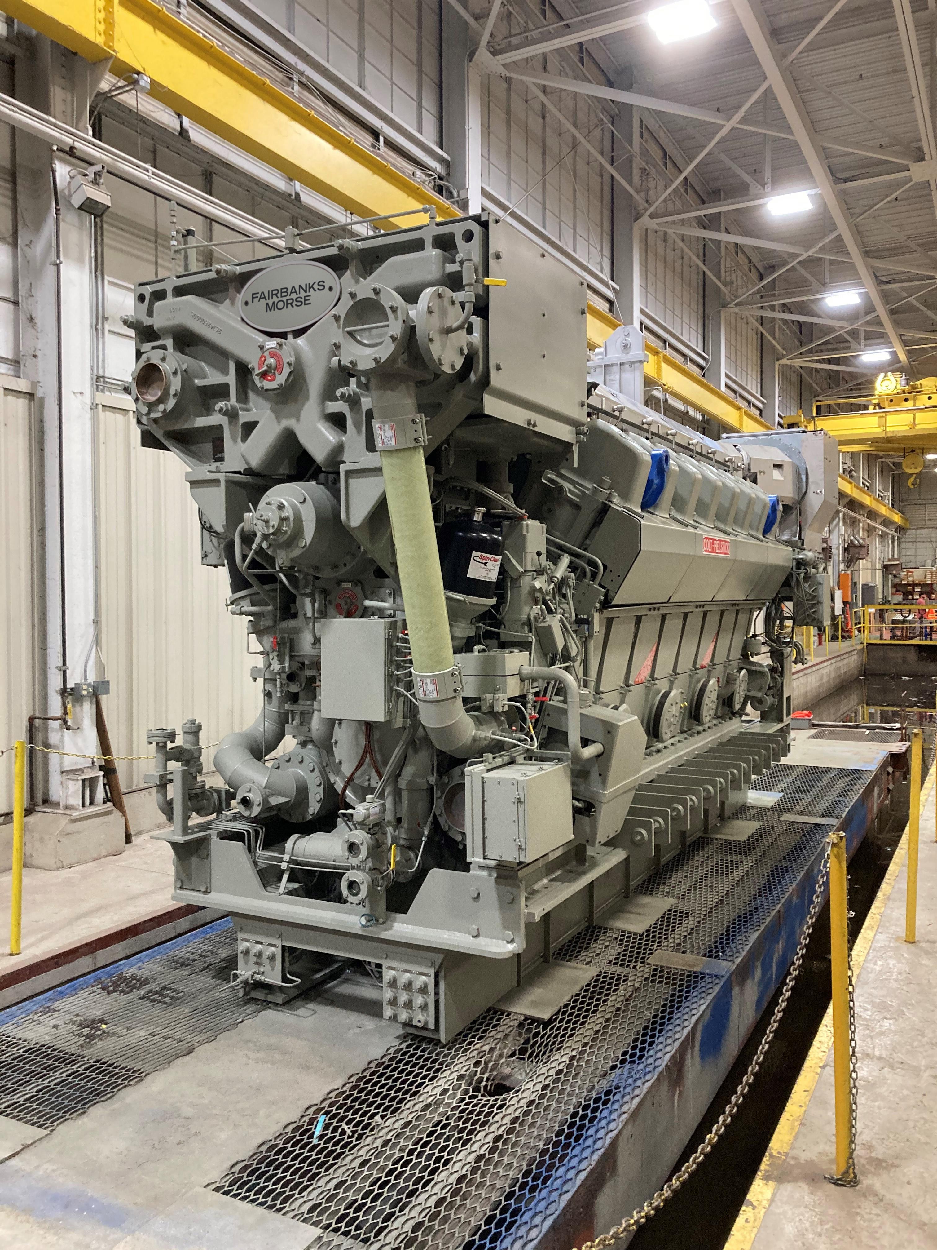 Fairbanks Morse Engine Ships USS Cleveland (LCS 31) Engines to Marinette Marine