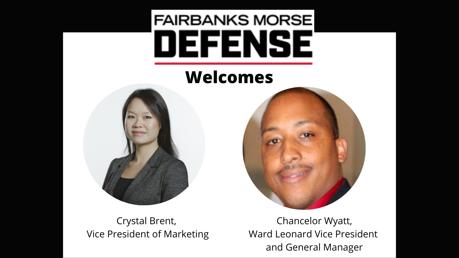 Fairbanks Morse Defense Expands Executive Management Team With Crystal Brent and Chancelor Wyatt