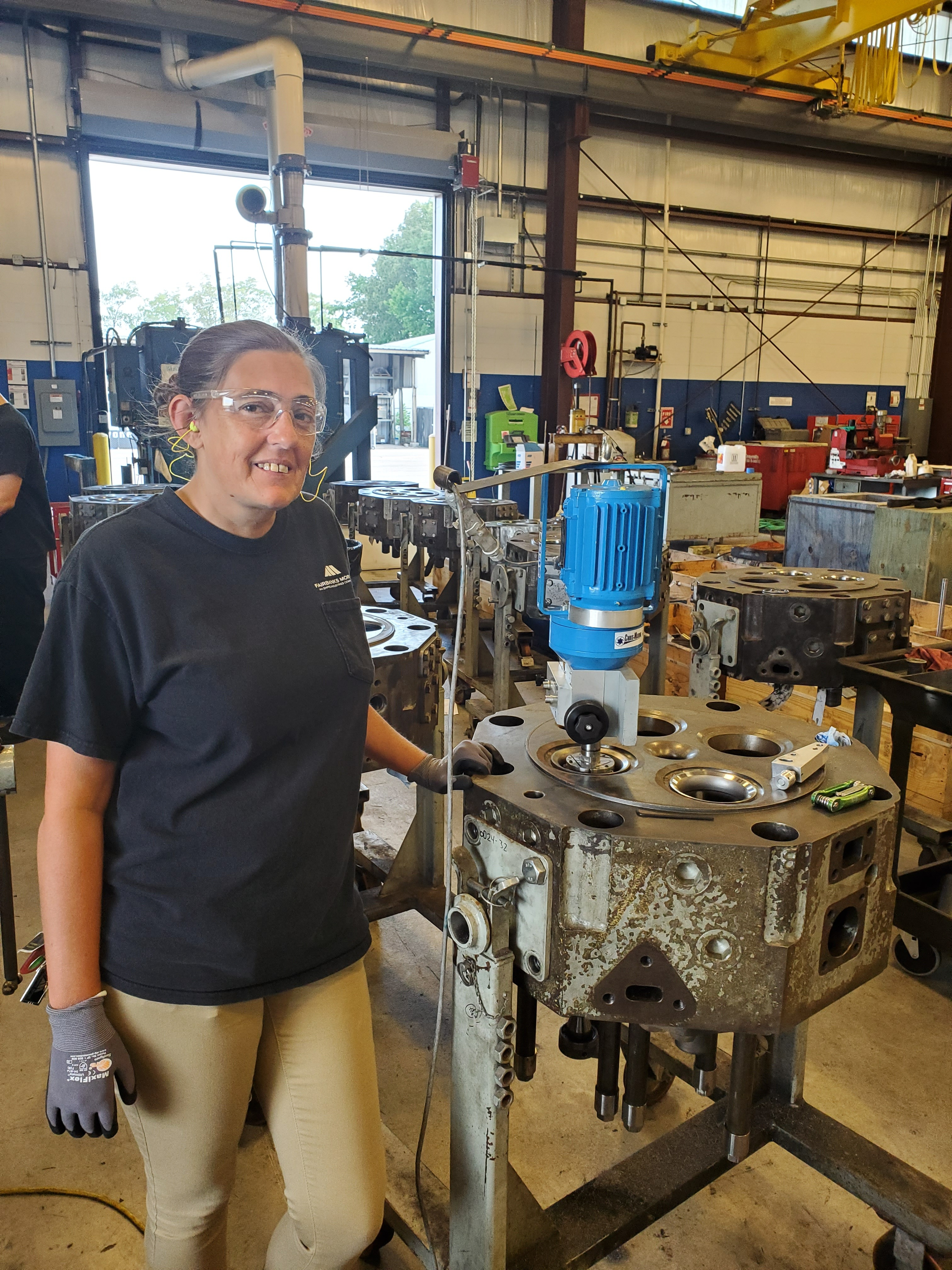 Women in Manufacturing: Get to know Sarah Adkins from our Norfolk Service Center!